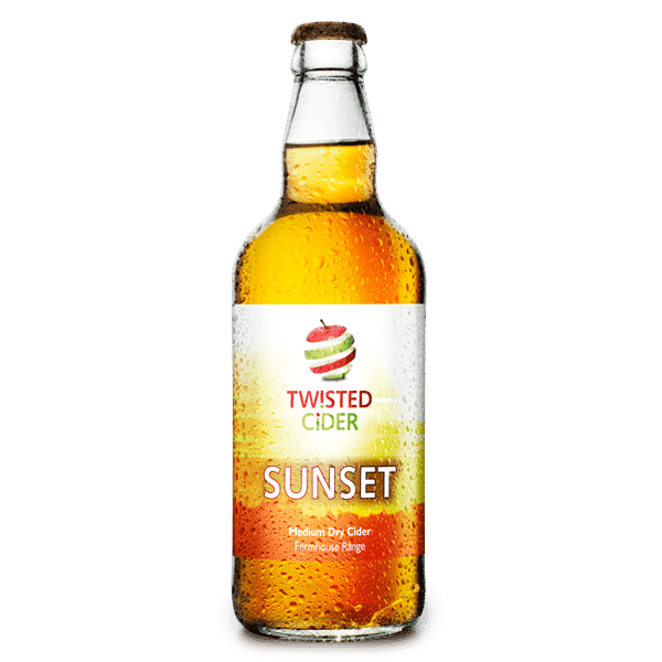 Twisted Cider Bottle Sunset